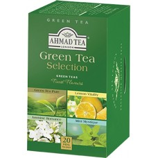 Чай Ahmad Зеленая коллекция (Green Tea Selection) 20х2г в фольге