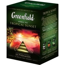 "Чай Greenfield ""Tropical Sunset"" 20п*1,8г (пирамидки)"