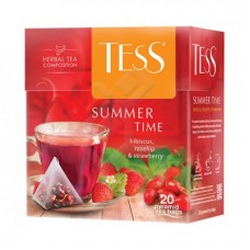 "Чай Tess ""Summer Time"" с ароматом малины и сливок 20п*1,8г (пирамидки)"